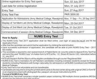 CMH Army Medical College Lahore Merit List 2018 19