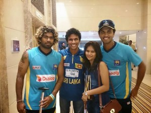 Dinesh Chandimal with Girlfriend Pictures