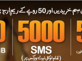Ufone New Sim Packages SMS Internet Call