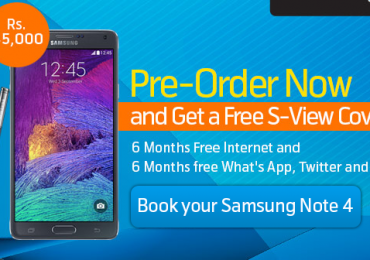 Samsung Launch Galaxy Note 4 Offer Telenor Free Internet Whatsapp Twitter