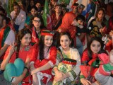 girls photos in pti jalsa