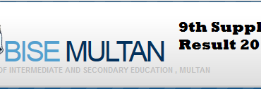 9th Class Supply Result 2014 Multan Board