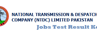 NTDC Junior Engineer Jobs NTS Entry Test Result 2014 Answer key