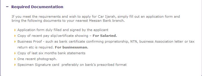 Meezan Bank Suzuki Car Finance Calculator Requirements Mehran Cultus