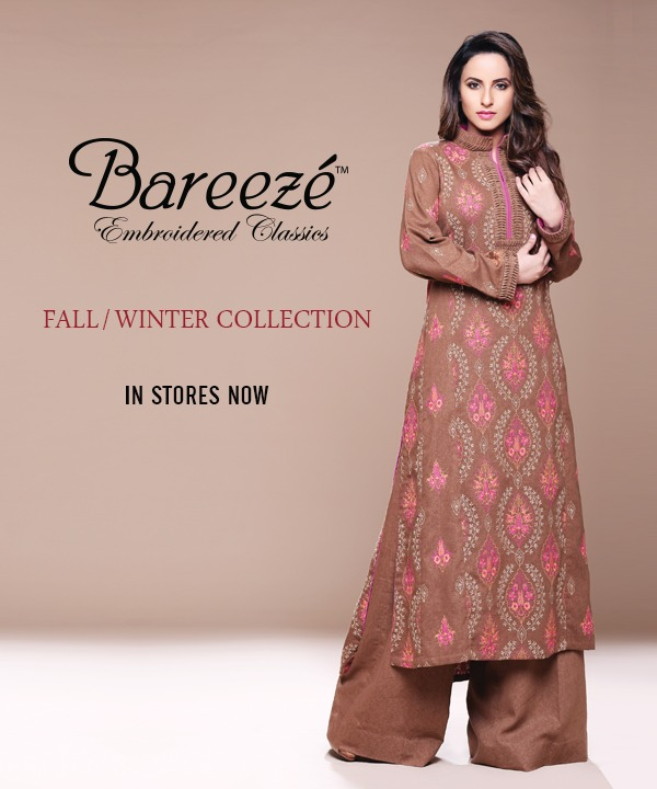 bareeze outfits for winter