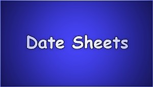 5th Fifth Class Date Sheet 2015 Federal Board
