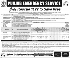 How to Apply For Rescue 1122 Jobs 2014 NTS Application Form Required Qualification