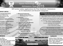 Institute of Space Technology IST Post Graduate Admissions 2015 Islamabad Karachi Campus