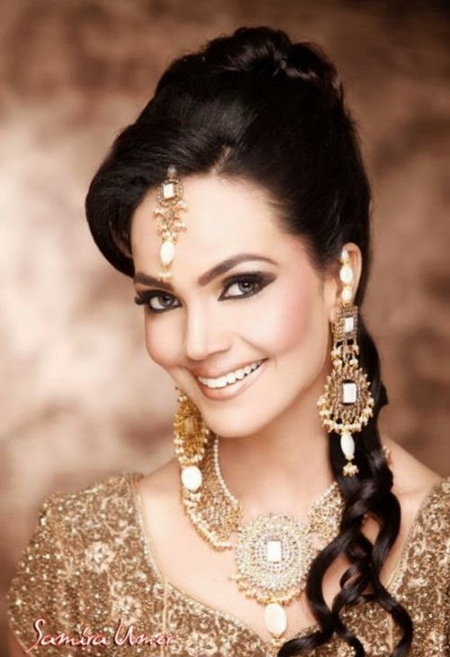 Latest Pakistani Wedding Hairstyles 2015