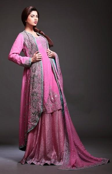 Pakistani Bridal Sharara Styles 2015