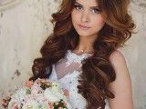 Stylish Wedding Bridal Hairstyle 2015