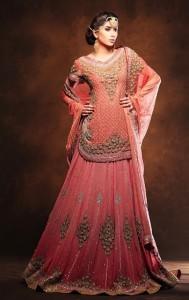 Unique Pakistani Bridal Sharara 2015 Pictures
