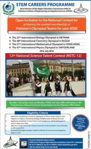 Stem Careers Programme Nstc Nomination Form Eligibility Criteria 2016 15