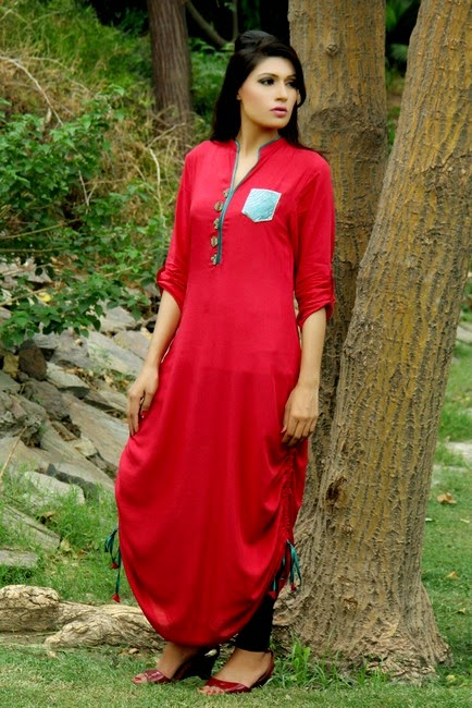 Latest Long Shirts Designs 2018 in Pakistan