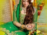 Green mehndi dresses in pakistan 2015