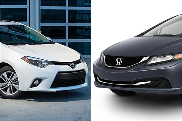 Toyota corolla vs honda civic 2015