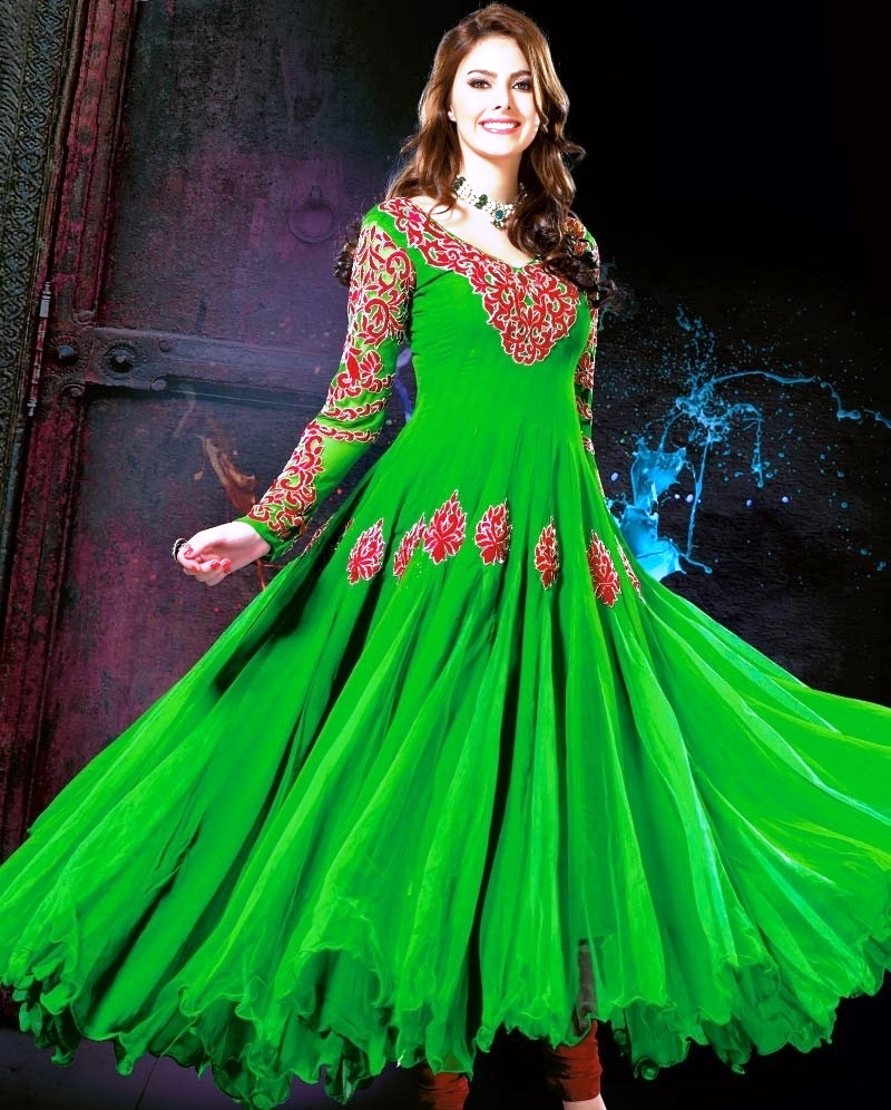 Latest Net Frocks Designs In Pakistan 2018