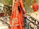 latest mehndi dresses in pakistan 2015