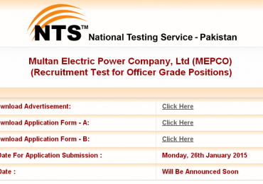 Mepco Jobs in Multan 2015 NTS Application Form Download Advertisement