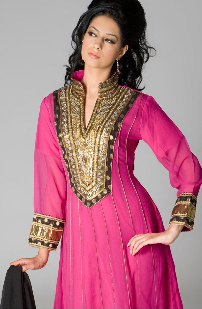 Simple Back Neck Designs For Salwar Kameez