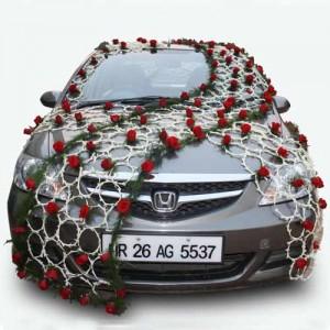 wedding car decoration back