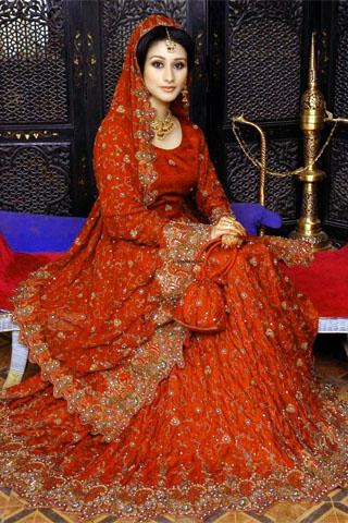 latest colours combination of wedding dresses of pakistani