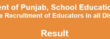 Punjab Educators Jobs NTS Test Result 2014 15 Phase 1 District Wise