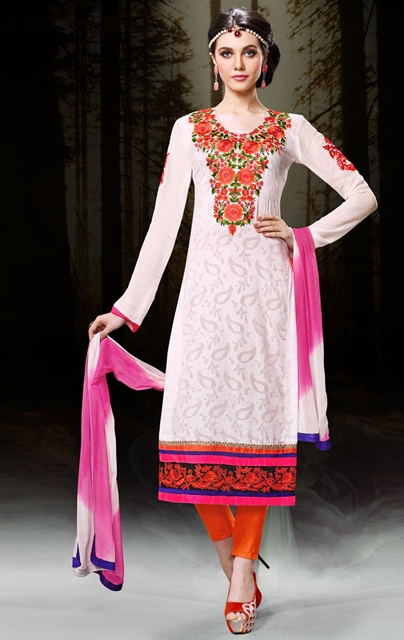Pakistani Embroidery Designs 2018 For Salwar Kameez Suits