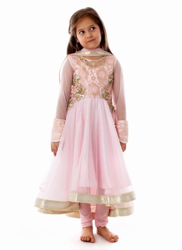 Kids Frocks Design 2017 Long Cotton For Summer Party Wear In Pakistan