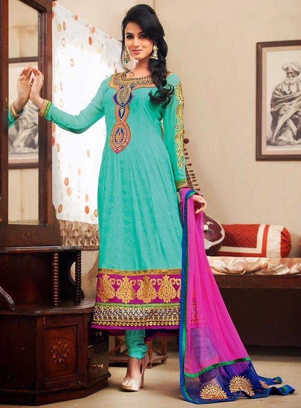 Pakistani embroidery designs for salwar kameez suits