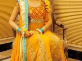 yellow dresses for mehndi