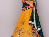 bridal mehndi dresses