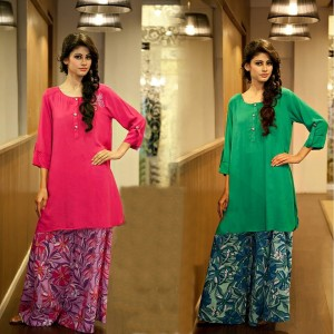 designer palazzo pants with short kurti