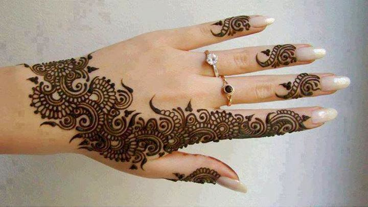 Chand raat mehndi henna designs 2014 - Pakistani Bridal Mehndi Designs 2015 Photos