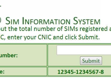 Check Zong Sim Number Customer Detail and CNIC Number