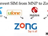 How to Convert to Zong With The Same Number From Ufone Telenor Warid Jazz