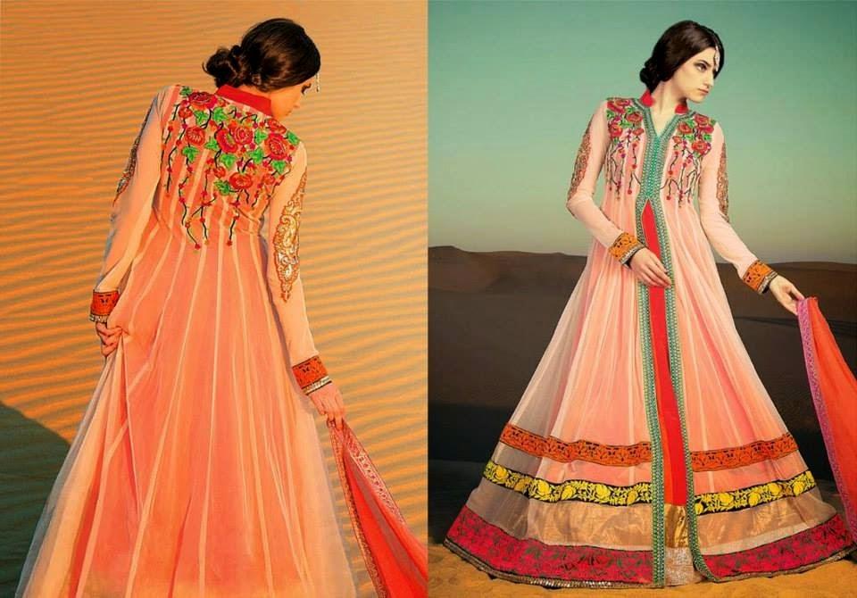 Pakistani Designer Embroidered Dresses 2015 Pics