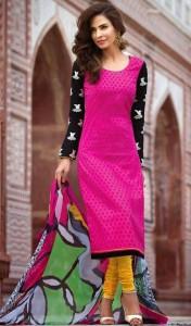 salwar kameez neck designs for bandhani