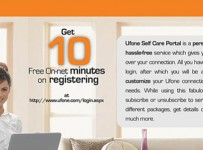 self care account on ufone website