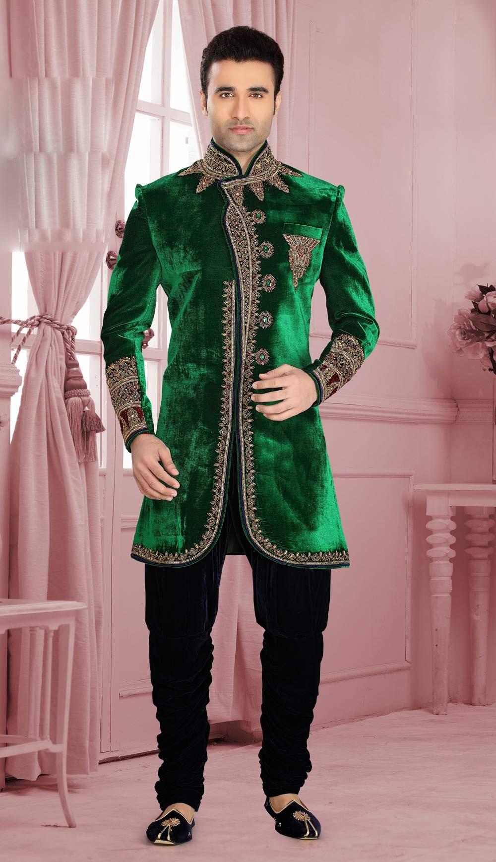 Velvet Sherwani Designs 2020 For Men Wedding in Pakistan