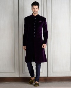 Velvet Sherwani Designs 2018 For Men Wedding in Pakistan