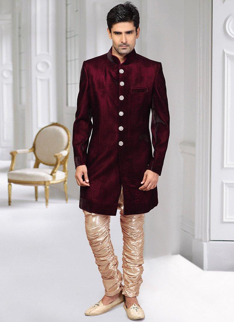 Velvet Sherwani Designs 2018 For Men Wedding In Pakistan