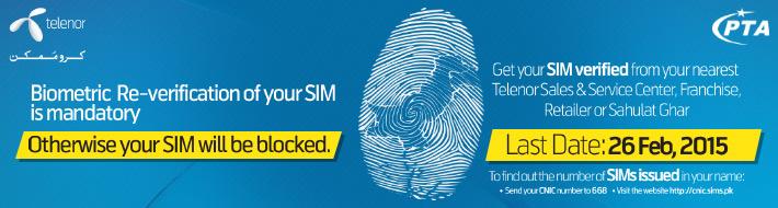 telenor sim verification online