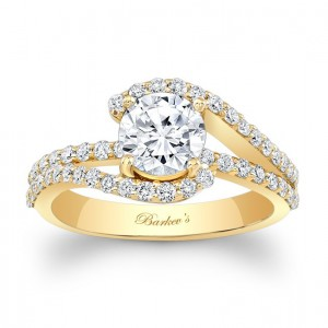 white gold engagement rings on hand