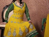 yellow mehndi dresses