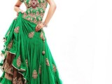 pakistani green wedding dresses pictures