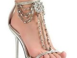 silver heel for bridal