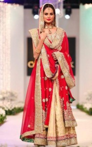 pakistani wedding red dresses pictures