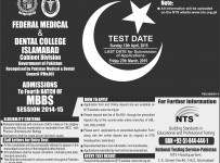 federal medical and dental college islamabad admission 2015