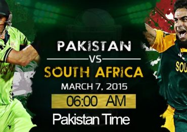 Pak Vs SA World Cup Match Live Score PTV Sports 7 Match 2015